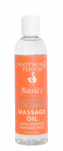 Soothing Touch Basics Fractionated Unscented Coconut Massage Oil Perspective: front
