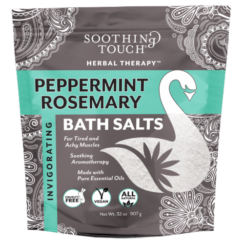 Soothing Touch Peppermint Rosemary Bath Salts Perspective: front