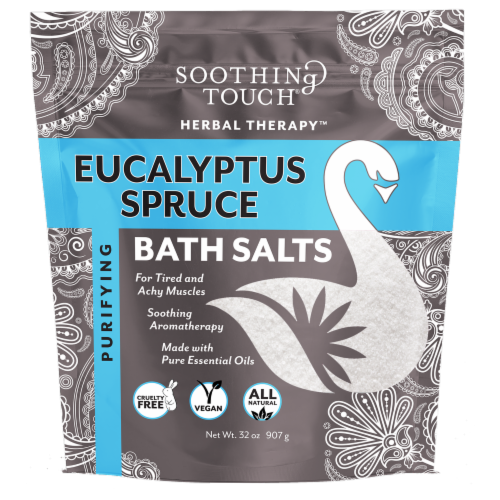 Soothing Touch Eucalyptus Spruce Bath Salts Perspective: front