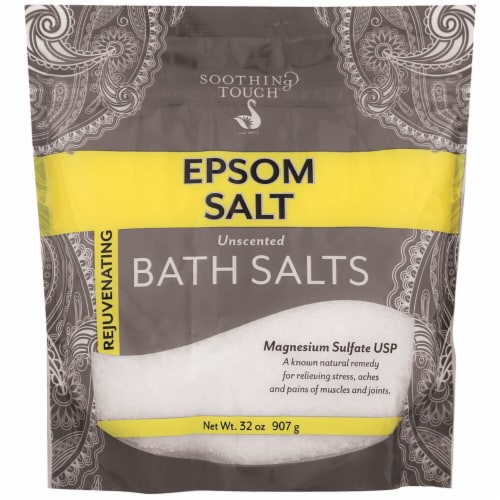 Soothing Touch Rejuvenating Unscented Epsom Bath Salt Perspective: front