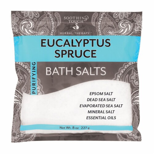 Soothing Touch Purifying Eucalyptus Spruce Bath Salts Perspective: front