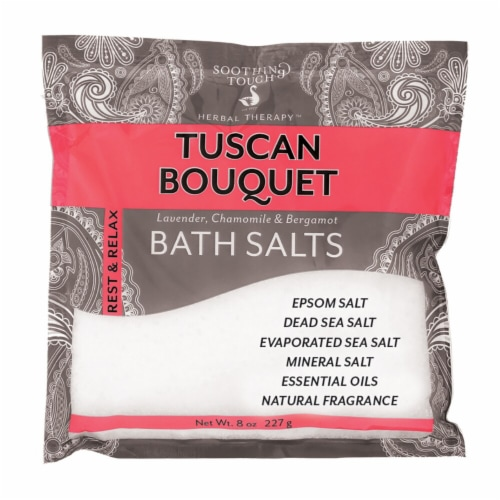 Soothing Touch  Tuscan Bouquet Lavender Chamomile & Bergamot Bath Salts Perspective: front