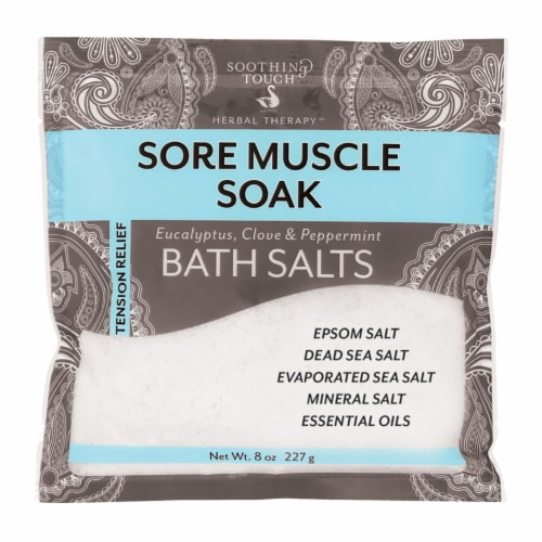 Soothing Touch  Sore Muscle Soak Eucalyptus Clove & Peppermint Bath Salts Perspective: front