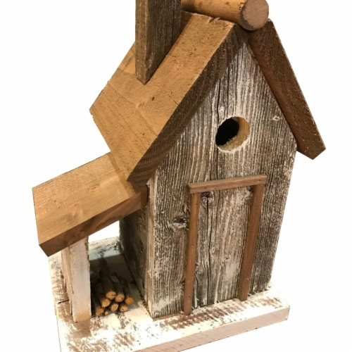 Home Bazaar HBA-1015WS Warwick Woodcutters Cottage, White Perspective: front