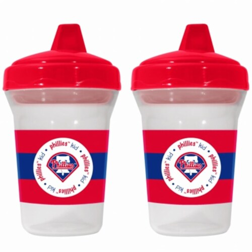 Baby Fanatic 143388 Philadelphia Phillies Sippy Cups 2-pack Perspective: front