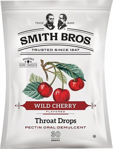Smith Bros. Throat Drops Wild Cherry Perspective: front