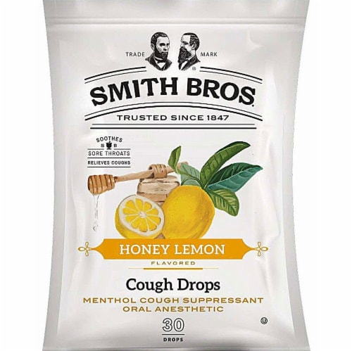Smith Bros. Cough Drops Honey Lemon Perspective: front