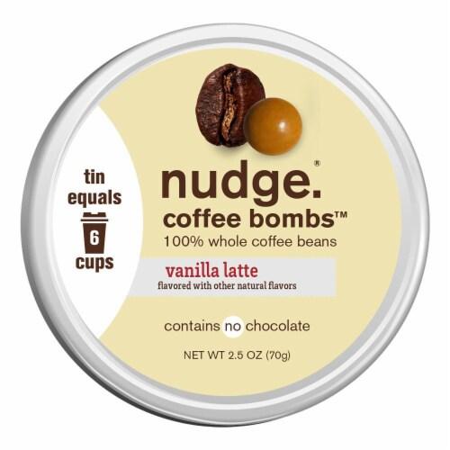Nudge Vanilla Latte Coffee Bombs Perspective: front