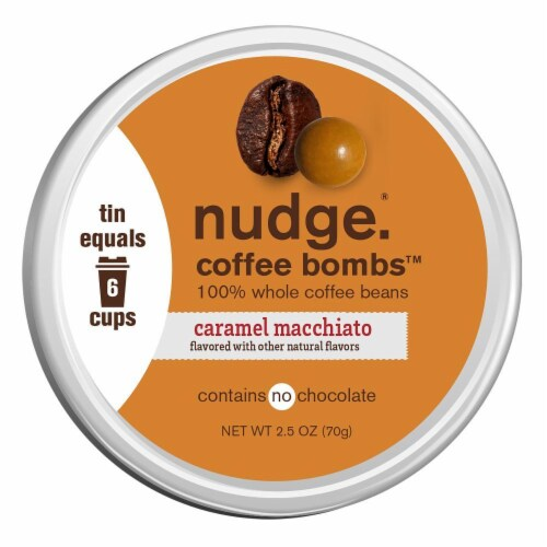 Nudge Caramel Macchiato Coffee Bombs Perspective: front