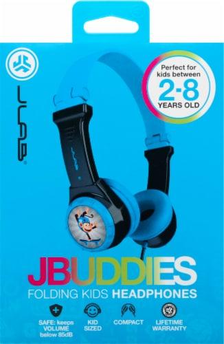 JLab Audio JBuddies Kids Folding Headphones - Gray/Blue Perspective: front