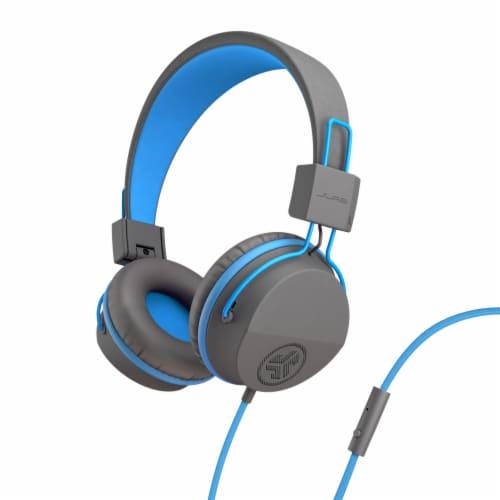 JLab Audio Jbuddies Studio Over-Ear Headphones - Gray/Blue Perspective: front