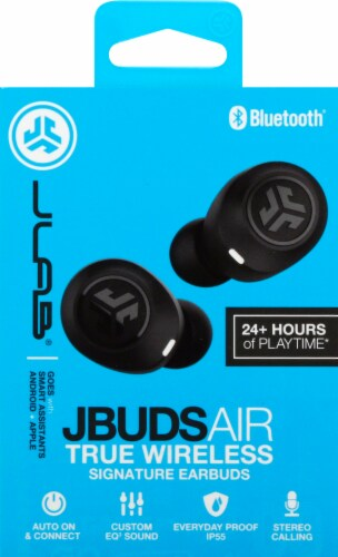 JLab Audio Earbuds - Black Perspective: front