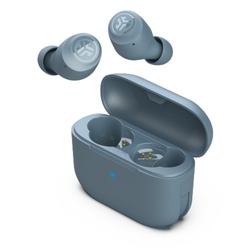 JLab Audio Go Air Pop True Wireless Earbuds - Slate Perspective: front