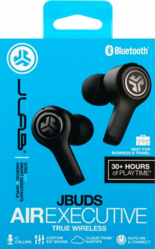 JLab Audio JBuds Air Executive True Wireless Earbuds - Black Perspective: front