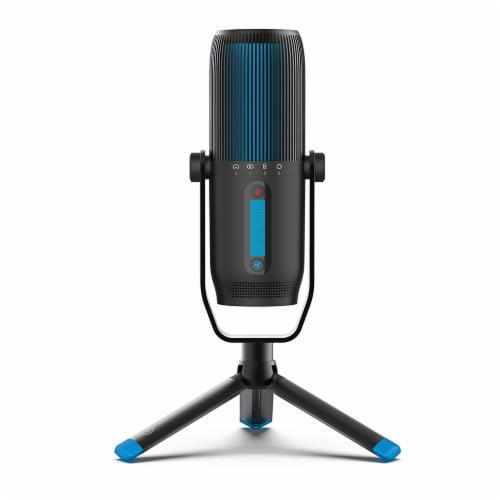 JLab Audio Talk Pro Microphone - Black/Blue Perspective: front