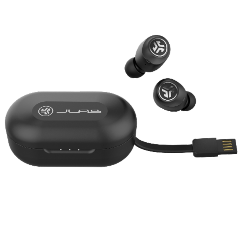 JLab Audio Air Wireless Earbuds - Black Perspective: front