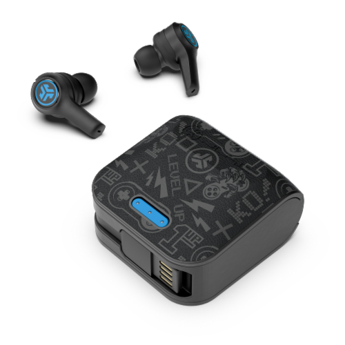 JLab JBuds Audio Air Play Gaming True Wireless Earbuds - Black Perspective: front