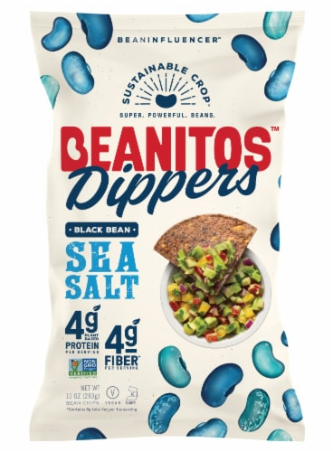 Beanitos Dippers Sea Salt Black Bean Tortilla Chips Perspective: front