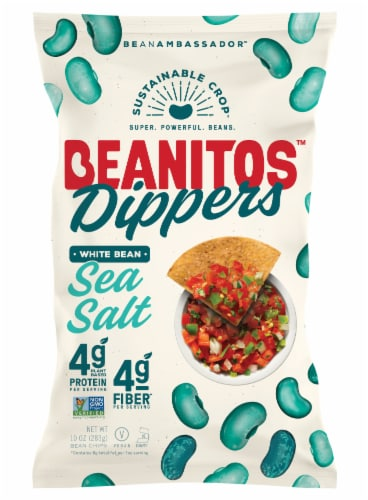 Beanitos Dippers Sea Salt White Bean Tortilla Chips Perspective: front