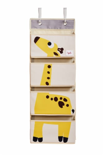 3 Sprouts Hanging Wall Organizer- Storage for Nursery and Changing Tables, Giraffe Perspective: front