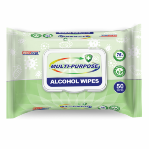 Germisept Multi-Purpose Alcohol Wipes Perspective: front