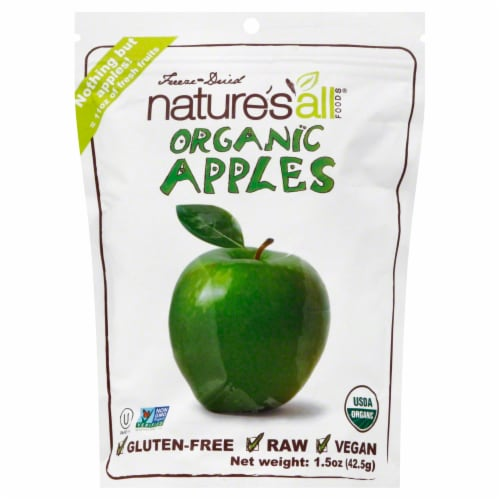 Nature's All Foods Organic Freeze Dried Apples Perspective: front