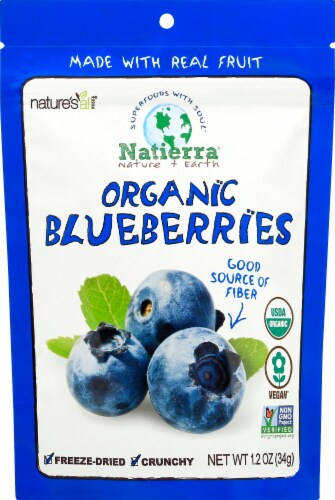 Nature's All Foods Organic Blueberries Perspective: front