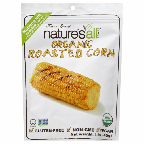 Nature's All Organic Roasted Corn Perspective: front