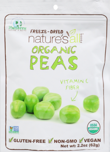 Nature's Freeze-Dried Green Organic Peas Perspective: front