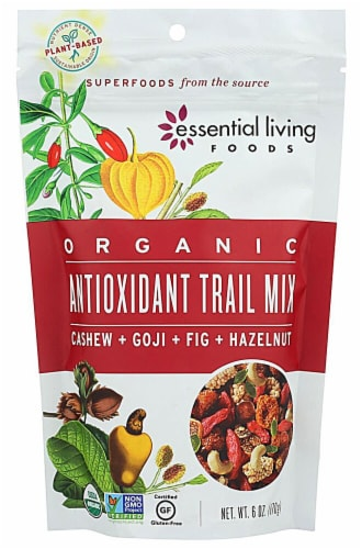 Essential Living Foods Antioxidant Organic Trail Mix Perspective: front