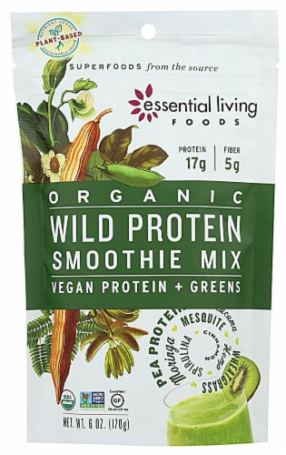 Essential Living Foods Organic Wild Protein Smoothie Mix Perspective: front