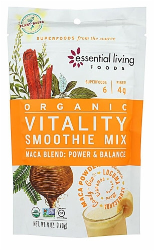 Essential Living Foods  Organic Smoothie Mix   Vitality Perspective: front