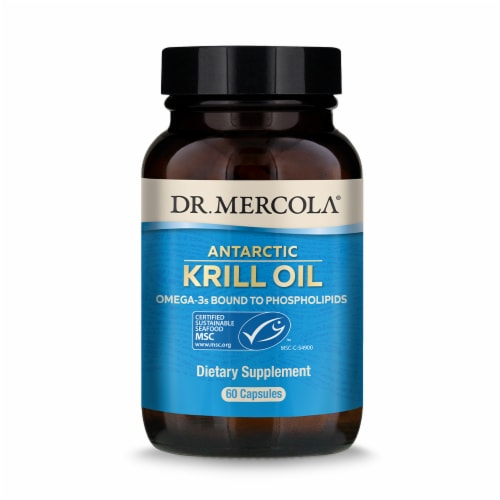 Mercola Krill Oil Capsules Perspective: front