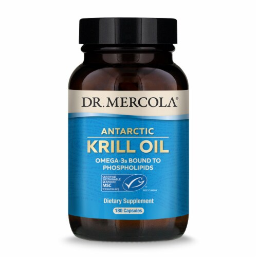 Mercola Krill Oil Supplement Capsules Perspective: front