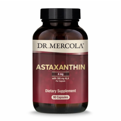 Mercola Organic Astaxanthin with ALA Capsules Perspective: front