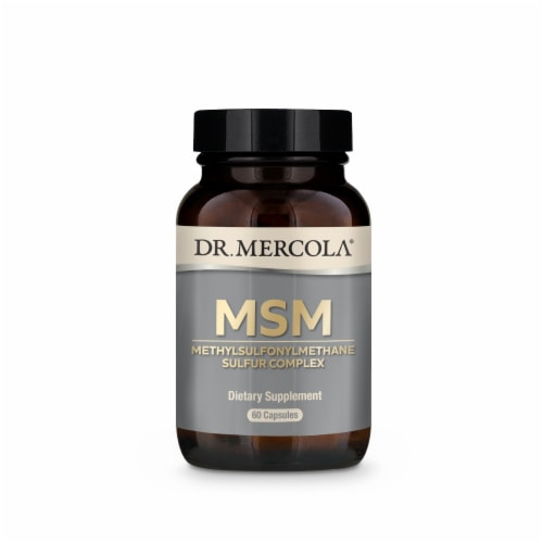 Mercola MSM Sulfur Complex Capsules Perspective: front