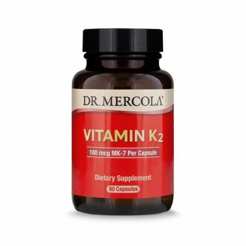 Mercola Vitamin K2 180 mg Capsules Perspective: front
