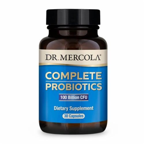 Mercola Complete 100 Billion CFU Probiotics Capsules Perspective: front