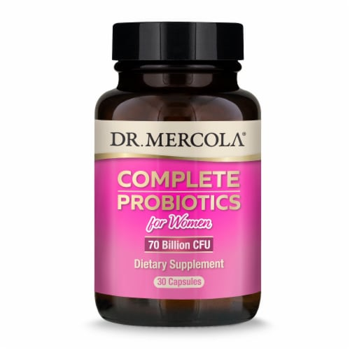 Mercola Complete Probiotic Capsules for Women Perspective: front