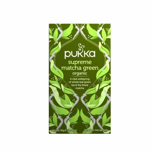 Pukka Organic Supreme Matcha Green Tea Sachets Perspective: front
