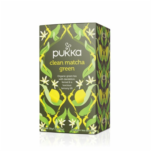 Pukka Clean Matcha Green 20 Count Perspective: front