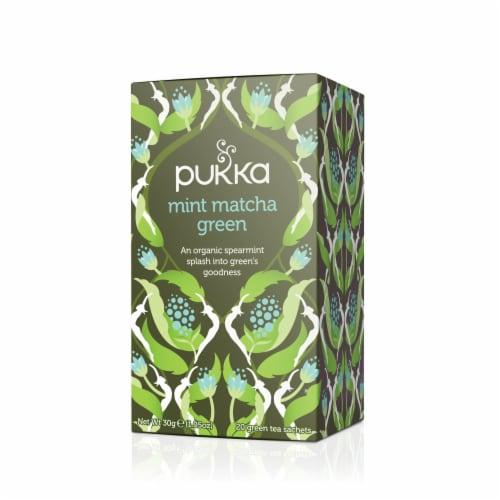 Pukka Mint Matcha Green Tea Bags Perspective: front