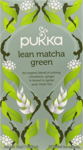 Pukka Lean Matcha Green Tea Sachets Perspective: front