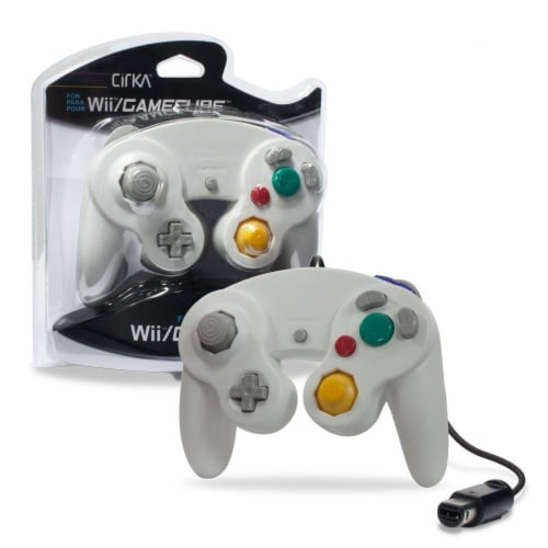 Hyperkin Cirka for Wii Wired Controller - White Perspective: front