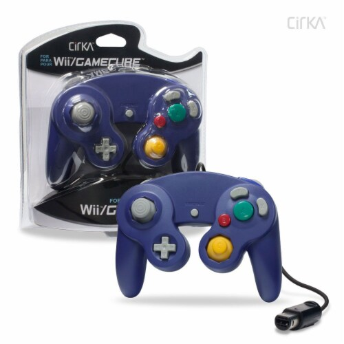 Hyperkin CirKa Wired Controller for Wii and GameCube - Purple Perspective: front