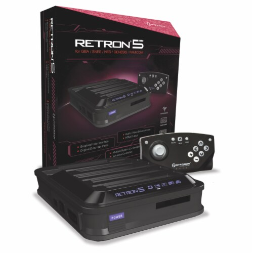 Hyperkin RetroN 5 HD Gaming Console - Black Perspective: front