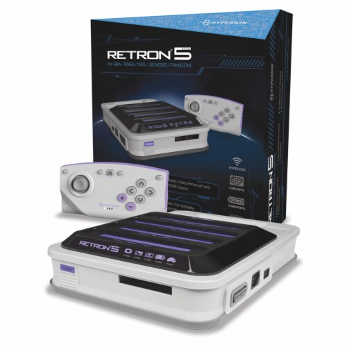 Hyperkin RetroN 5 HD Gaming Console - Grey Perspective: front