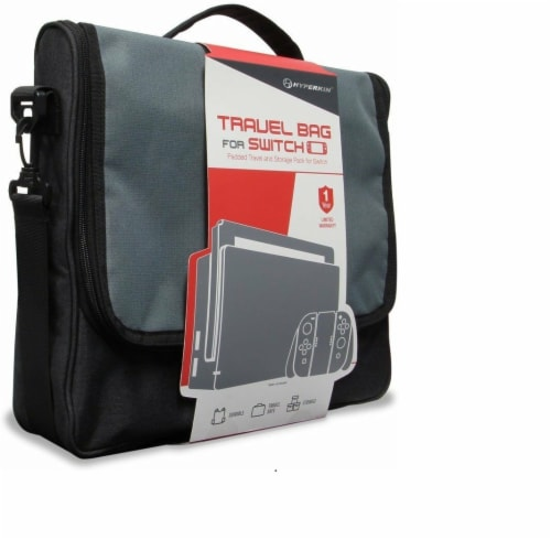 Hyperkin Nintendo Switch Travel Bag - Silver/Black Perspective: front