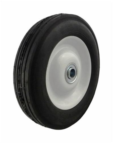 Marathon 8 inch Dia. x 8 in. Dia. 225 lb. capacity Offset Wheelbarrow Tire Rubber 1 pk - Case Perspective: front