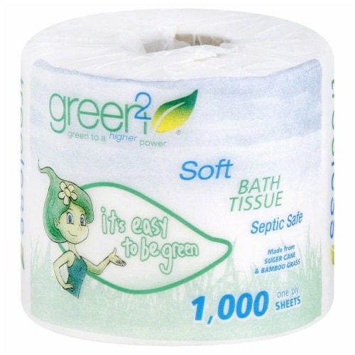 Green2 Soft Bath Tissue Perspective: front